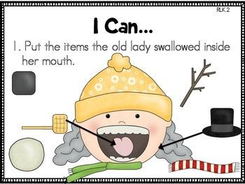 There Was a Cold Lady Who Swallowed Some Snow {Literacy Centers}