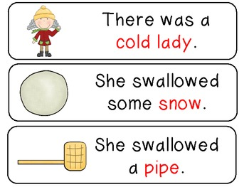 There Was a Cold Lady Who Swallowed Some Snow - Math and Lit. Fun for PreK /K