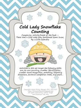 There Was a Cold Lady Who Swallowed Some Snow – Snowflake Counting Activitiy