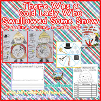 There Was a Cold Lady Who Swallowed Some Snow! {retelling, writing, & math too!}