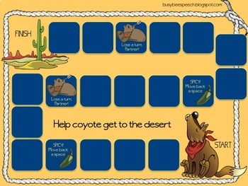There Was a Coyote Who Swallowed a Flea Speech and Language Companion Pack