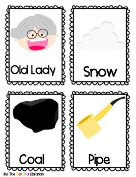 There Was an Cold Lady Who Swallowed Some Snow Sequencing/Story Cards