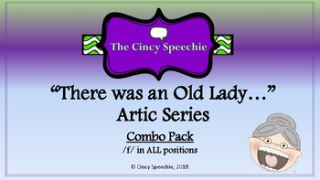 There Was an Old Lady Artic Series- Combo pack- /f/ in ALL positions