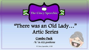 There Was an Old Lady Artic Series- Combo pack- /k/ in ALL positions