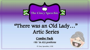 There Was an Old Lady Artic Series- DISCOUNTED Combo pack- /sh/ in ALL positions