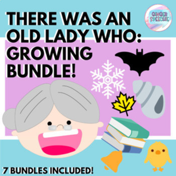 There Was an Old Lady Speech & Language Activities | Growing Bundle | No Prep