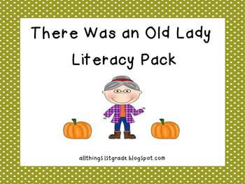 There Was an Old Lady Literacy Pack