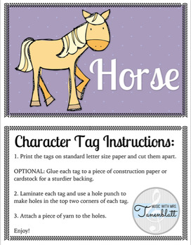 There Was an Old Lady - Music Lesson and Printable Character Cards