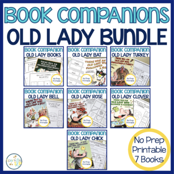 Speech Language and Literacy Old Lady Print & Go Book Comp