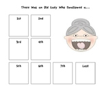 There Was an Old Lady Sequencing Sheet