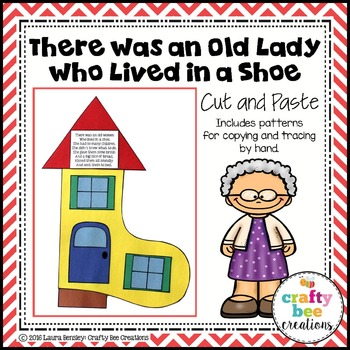 There Was an Old Lady Who Lived in a Shoe Cut and Paste