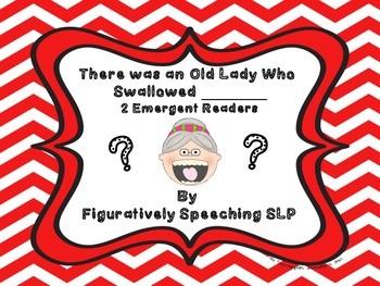 There Was an Old Lady Who Swallowed - 2 Emergent Readers/Minibooks