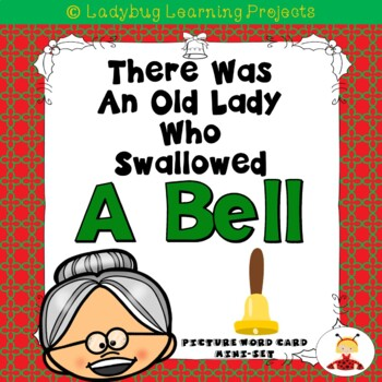 There Was an Old Lady Who Swallowed A Bell  (Mini Vocabulary Card Bundle)