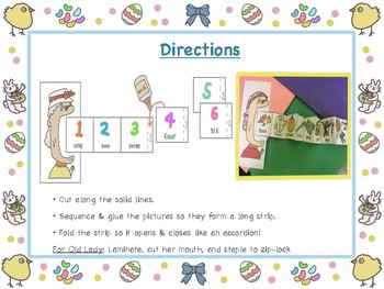 There Was an Old Lady Who Swallowed A Chick BUNDLE Retell, Sequence, Interactive