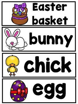 There Was an Old Lady Who Swallowed A Chick (Mini Vocabulary Card Bundle)