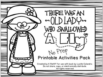 There Was an Old Lady Who Swallowed A Fly:  No-Prep Book Companion