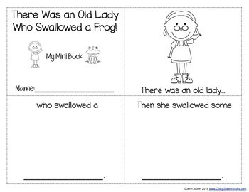 There Was an Old Lady Who Swallowed A Frog! Language Unit