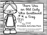 There Was an Old Lady Who Swallowed A Frog: No-Prep Book Companion