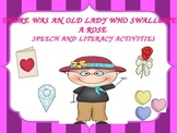 There Was an Old Lady Who Swallowed A Rose Free Literacy Activities