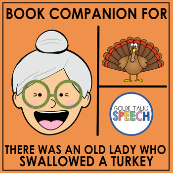 There Was an Old Lady Who Swallowed A Turkey  Book Companion   Boom Cards