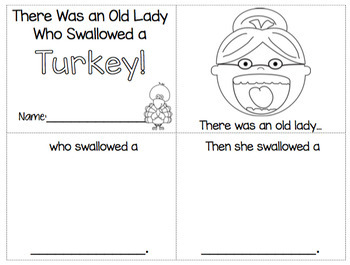 There Was an Old Lady Who Swallowed A Turkey! Language Unit