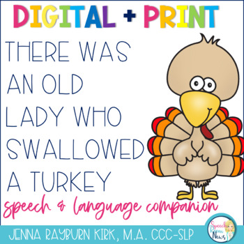 There Was an Old Lady Who Swallowed A Turkey Speech & Language Activities