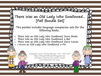 There Was an Old Lady Who Swallowed - [[FALL BUNDLE]] - Language Companion Sets