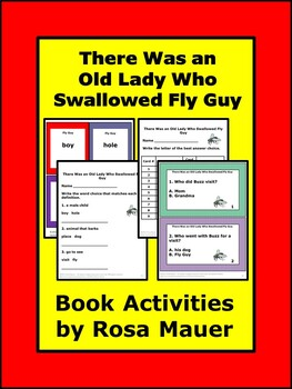There Was an Old Lady Who Swallowed Fly Guy Reading Book Unit