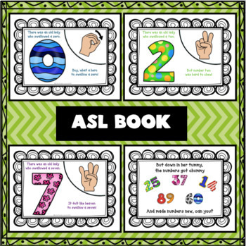 THERE WAS AN OLD LADY WHO SWALLOWED NUMBERS in ASL for young children