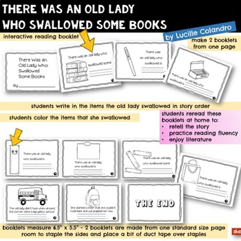 There Was an Old Lady Who Swallowed Some Books | Book Companion |Reader Response