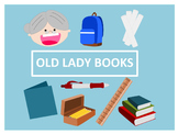 There Was an Old Lady Who Swallowed Some Books Clip Art
