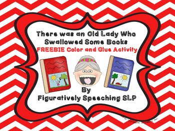 There Was an Old Lady Who Swallowed Some Books Color and Glue {FREEBIE}