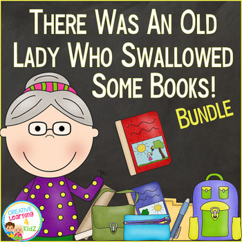 There Was an Old Lady Who Swallowed Some Books! Set