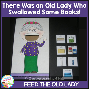 There Was an Old Lady Who Swallowed Some Books! Cut-Out