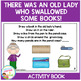 There Was an Old Lady Who Swallowed Some Books! Cut & Paste Activity Book