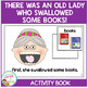 There Was an Old Lady Who Swallowed Some Books! Cut & Past
