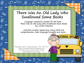 There Was an Old Lady Who Swallowed Some Books - Speech and Language Packet