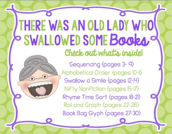 There Was an Old Lady Who Swallowed Some Books! {Mini Unit}