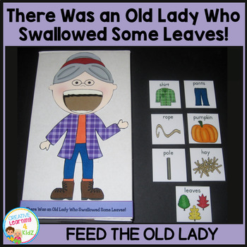 There Was an Old Lady Who Swallowed Some Leaves! Cut Out
