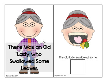 There Was an Old Lady Who Swallowed Some Leaves Adapted Book