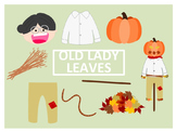There Was an Old Lady Who Swallowed Some Leaves Clip Art
