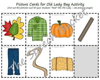 There Was an Old Lady Who Swallowed Some Leaves - Speech and Language Packet