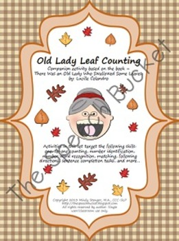 There Was an Old Lady Who Swallowed Some Leaves – Leaf Counting Activities