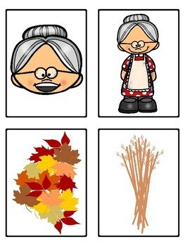 There Was an Old Lady Who Swallowed Some Leaves (Mini Vocabulary Card Bundle)