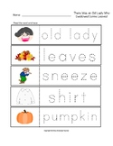 There Was an Old Lady Who Swallowed Some Leaves! Trace the