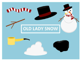 There Was an Old Lady Who Swallowed Some Snow Clip Art