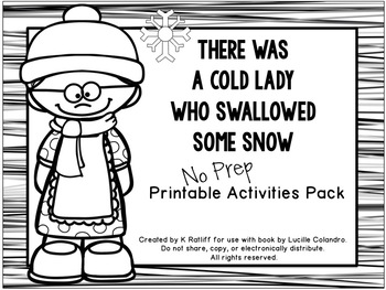 There Was an Old Lady Who Swallowed Some Snow:  No-Prep Pr