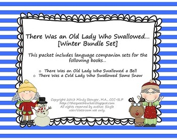 There Was an Old Lady Who Swallowed - [[WINTER BUNDLE]] - Language Sets