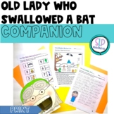 Companion for Old Lady Who Swallowed a Bat Halloween Activity Pack