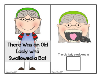 There Was an Old Lady Who Swallowed a Bat Adapted Book